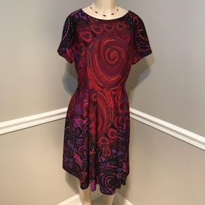 DONNA MORGAN Multi-color Fit & Flare Dress Size 12